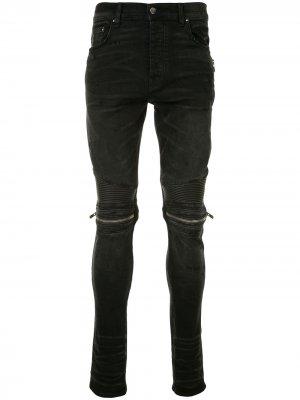 Байкерские джинсы скинни AMIRI. Цвет: черный
