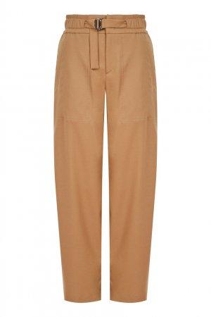 Коричневые брюки из шерсти Almea Bogner. Цвет: коричневый