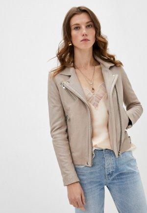 Куртка кожаная Iro. Цвет: бежевый