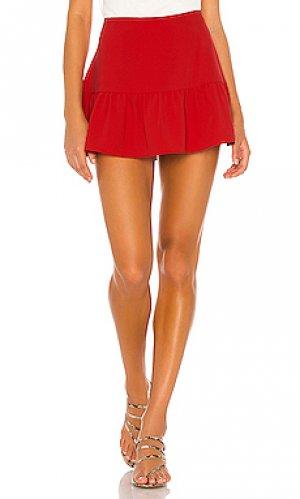 Юбка-шорты gabbie Amanda Uprichard. Цвет: красный