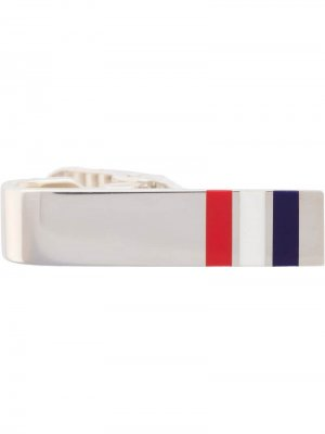 Зажим для галстука с полосками RWB Thom Browne. Цвет: серебристый