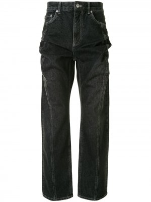 High waist straight leg jeans Y/Project. Цвет: черный