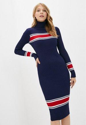 Платье Bigtora. Цвет: синий