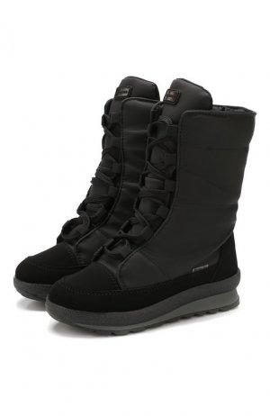 Утепленные сапоги Jog Dog. Цвет: чёрный