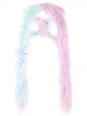 Шаль с отделкой перьями 16Arlington. Цвет: фиолетовый