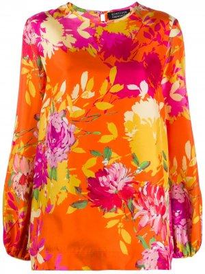 Блузка с цветочным принтом Gianluca Capannolo. Цвет: розовый