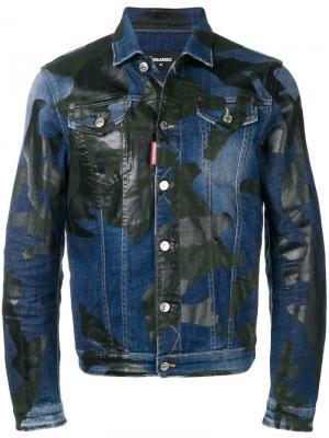 Джинсовая куртка с камуфляжным узором Dsquared2