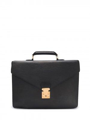 Портфель Conseiller 2005-го года Louis Vuitton. Цвет: черный