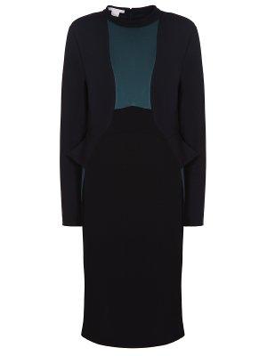 Трикотажное платье-футляр Antonio Berardi. Цвет: черный