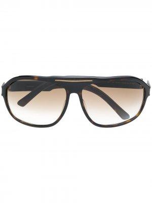 Солнцезащитные очки 1970-х годов Yves Saint Laurent Pre-Owned. Цвет: коричневый