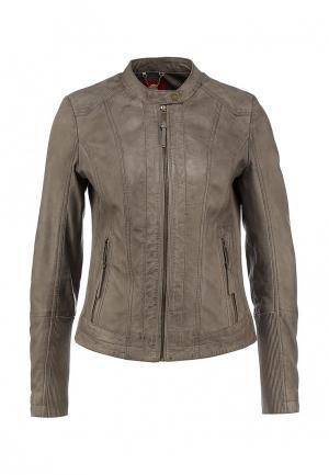 Куртка кожаная s.Oliver. Цвет: бежевый