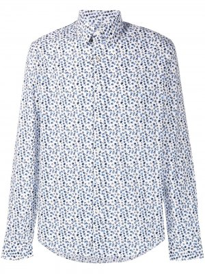 Рубашка с абстрактным принтом Michael Kors. Цвет: белый