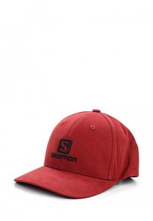 Бейсболка Salomon CAP LOGO. Цвет: красный