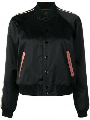 Куртка-бомбер с логотипом Saint Laurent