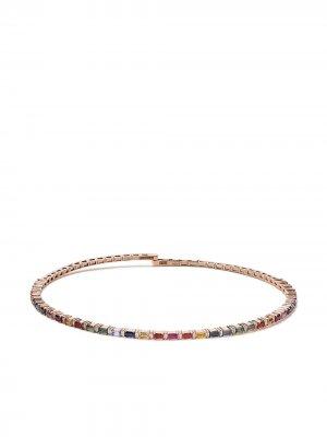 Золотой чокер Rainbow с бриллиантами и сапфирами Suzanne Kalan. Цвет: розовый