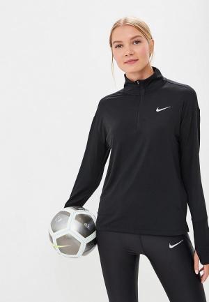 Лонгслив спортивный Nike Element Womens 1/2-Zip Running Top. Цвет: черный