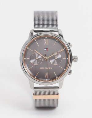 Серебристые часы с сетчатым браслетом 1782304-Серебристый Tommy Hilfiger
