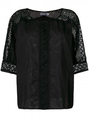 Блузка с рукавами в сетку Charo Ruiz Ibiza. Цвет: черный