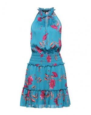 Короткое платье BCBGMAXAZRIA. Цвет: бирюзовый