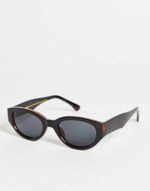 Черные круглые солнцезащитные очки унисекс в стиле ретро Winnie-Черный A.Kjaerbede