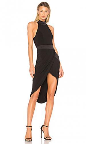 Платье миди miracle Zhivago. Цвет: черный