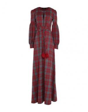 Длинное платье AMUCK. Цвет: красный