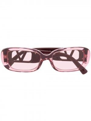 Солнцезащитные очки с логотипом VLogo Valentino Eyewear. Цвет: розовый