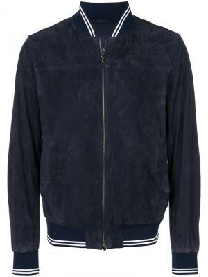 Приталенная куртка-бомбер Paul & Shark. Цвет: синий