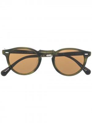 Солнцезащитные очки Gregory Peck 1962 Oliver Peoples. Цвет: зеленый