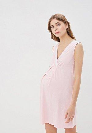 Платье домашнее Очаровательная Адель. Цвет: розовый