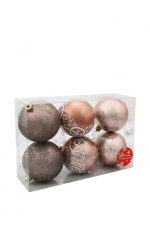 Набор елочных шаров Зимнее волшебство. Цвет: коричневый