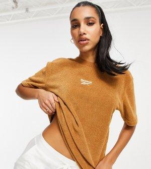 Светло-коричневая махровая футболка от комплекта Classics Toast – эксклюзивно для ASOS-Коричневый Reebok