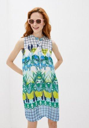 Платье Снежная Королева. Цвет: разноцветный