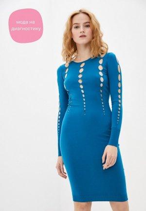 Платье Rinascimento. Цвет: синий
