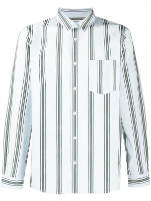 Полосатая рубашка на пуговицах A.P.C.. Цвет: синий