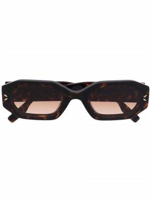Hexagon tortoiseshell sunglasses Mcq By Alexander Mcqueen Eyewear. Цвет: коричневый