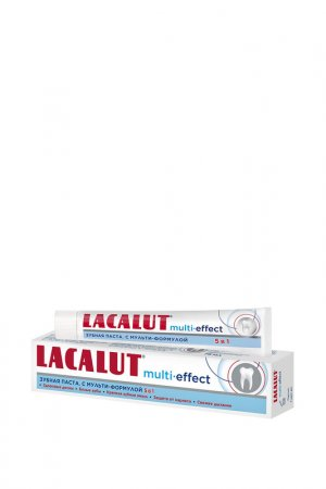 Зубная паста МУЛЬТИ-ЭФ LACALUT. Цвет: белый