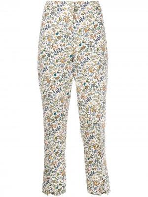 Укороченные брюки Maisie Liddell с принтом Liberty London. Цвет: белый