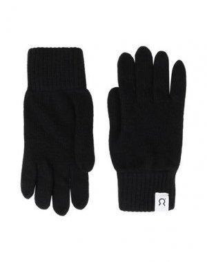 Перчатки RIFÒ. Цвет: черный