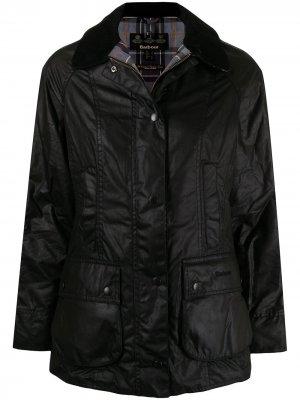 Вощеная куртка Classic Beadnell Barbour. Цвет: черный