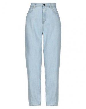 Джинсовые брюки JUCCA. Цвет: синий
