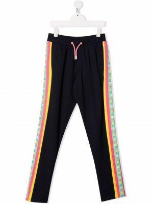 TEEN side stripe-detail track pants The Marc Jacobs Kids. Цвет: синий