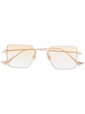 Солнцезащитные очки Wavy I в квадратной оправе EQUE.M. Цвет: золотистый
