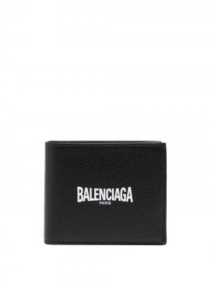 Кошелек с логотипом Balenciaga. Цвет: черный