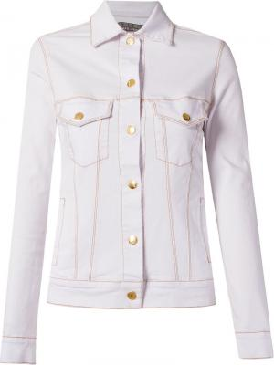 Приталенная куртка Amapô. Цвет: белый