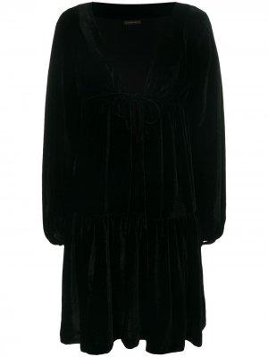 Расклешенное платье с запахом Plein Sud. Цвет: черный