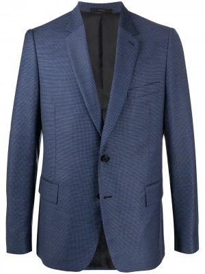 Однобортный пиджак узкого кроя Paul Smith. Цвет: синий