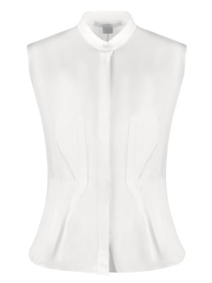 Блуза хлопковая приталенная Antonio Berardi. Цвет: белый