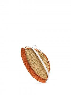 Плетеная мини-сумка Inès Bressand. Цвет: нейтральные цвета