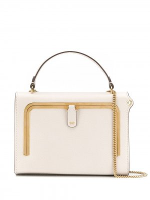 Маленькая сумка-тоут Postbox Anya Hindmarch. Цвет: нейтральные цвета
